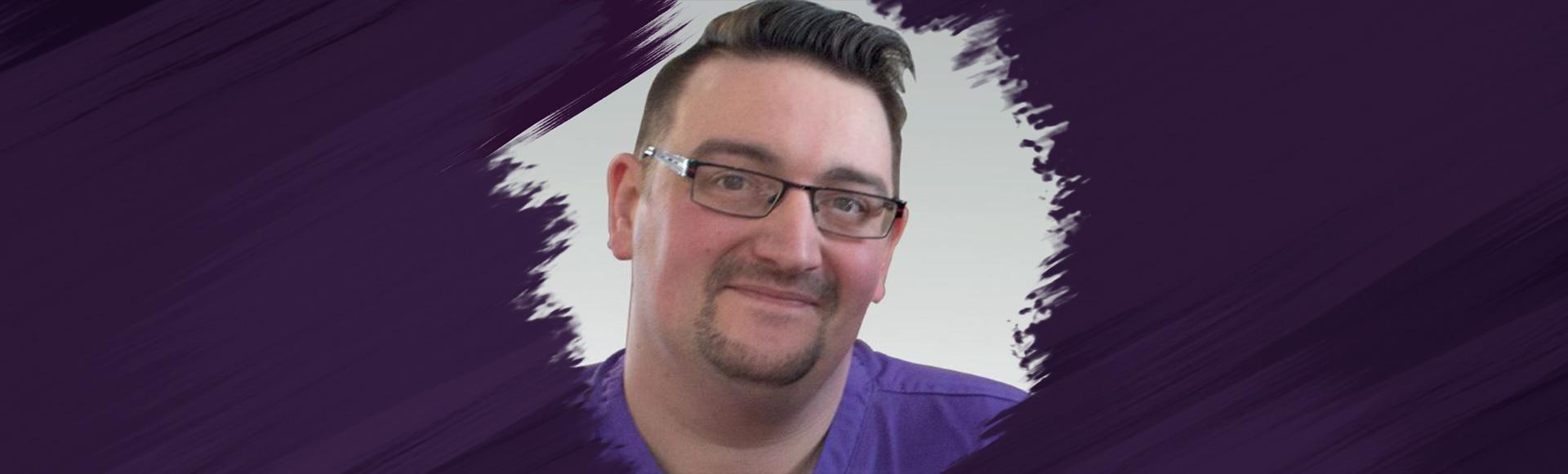 <span class='customfont'>Matthew </span> loves his job as a nursing care assistant