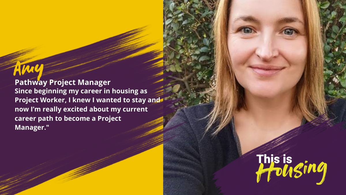 Amy worked on the frontline and is now on a pathway to become a Project Manager.